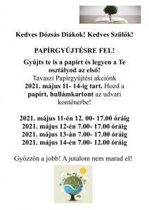 papírgyűjtés-plakát